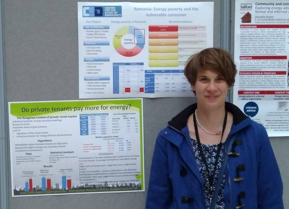 Anna Bajomi at the ECR Symposium, Nottingham